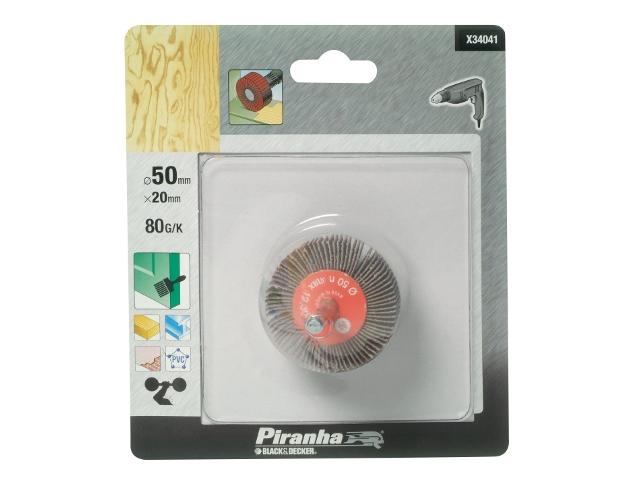 Wachlarzowa tarcza szlifierska 6x50x20mm P80 Piranha