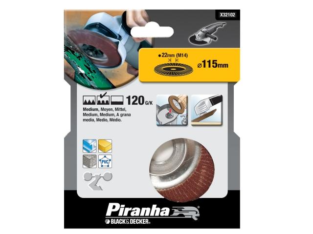 Wachlarzowa tarcza szlifierska 115x22,2mm P120 Piranha