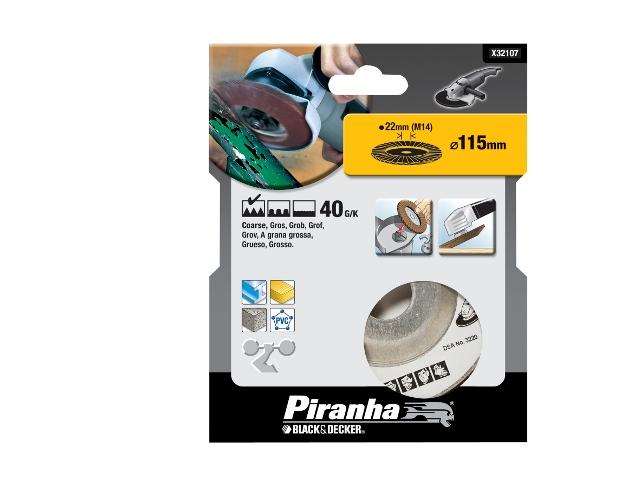 Wachlarzowa tarcza szlifierska 115x22,2mm P40 Piranha