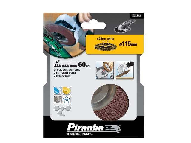 Wachlarzowa tarcza szlifierska 115x22,2mm P60 Piranha