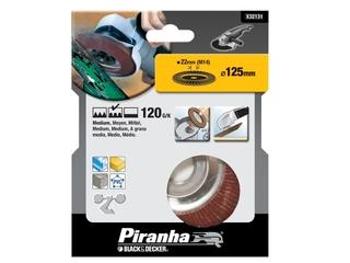 Wachlarzowa tarcza szlifierska 125x22,2mm P120 Piranha