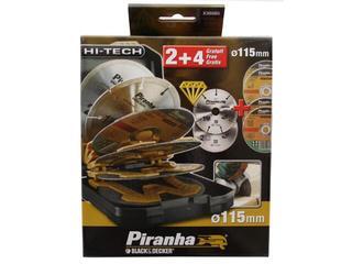 Zestaw tarcz tnących X38085 różne 6cz. Piranha
