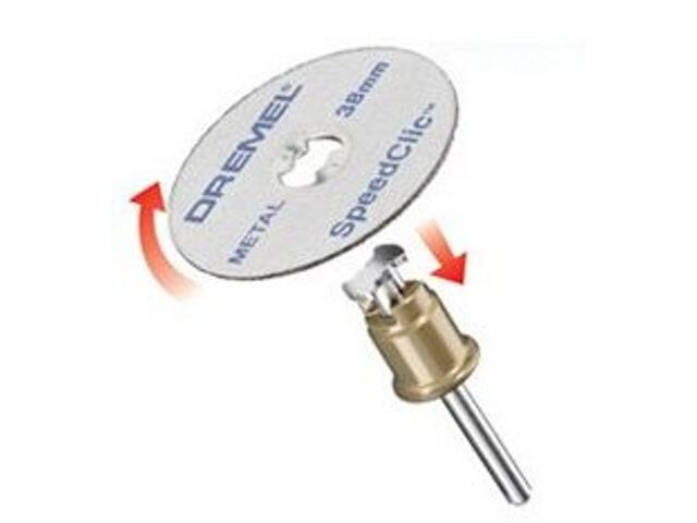 Zestaw tarcz tnących do metalu star set sclic 38mm x 1,25mm + trzpień 3cz. Dremel