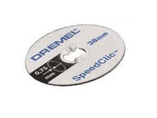 Zestaw tarcz tnących sclic /5 tarcz do cięcia 38mm, 0,75mm/ Dremel