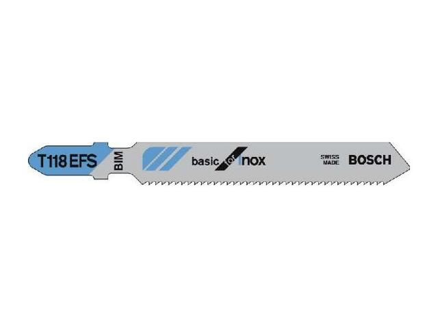 Brzeszczot Basic For Inox T118EFS 5szt. 2608636497 Bosch