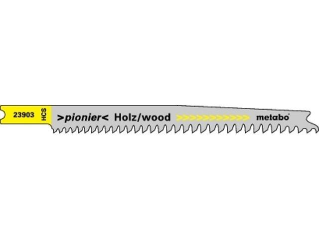 Brzeszczot do wyrzynarki PIONIER 90mm 5szt. drewno Metabo