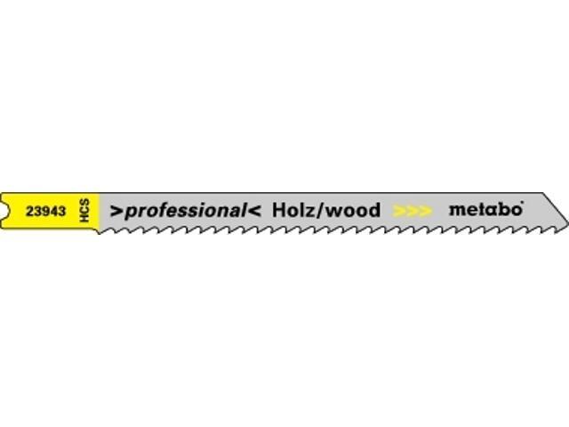 Brzeszczot do wyrzynarki HCS 82/2,5mm chwyt U 5szt. Metabo