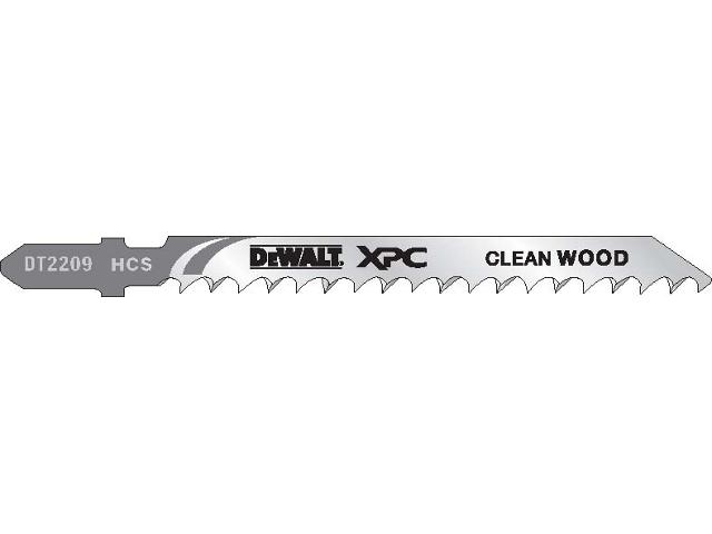Brzeszczot do wyrzynarki XPC do drewna 100mm 5szt. DT2209 DeWALT