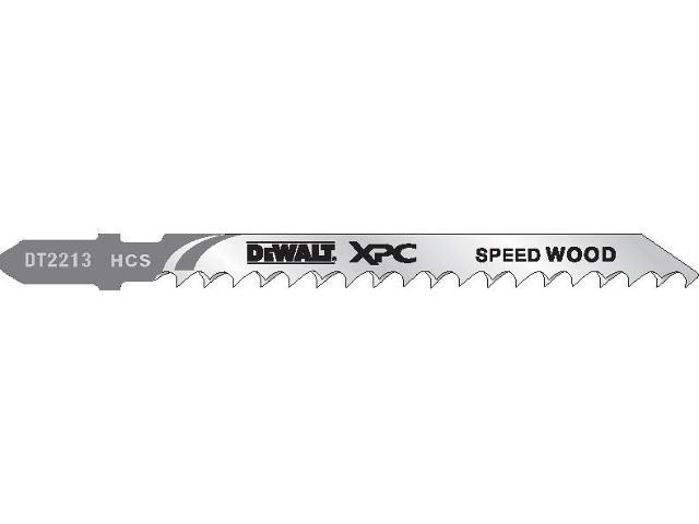Brzeszczot do wyrzynarki XPC do drewna 100mm 5szt. DT2213 DeWALT