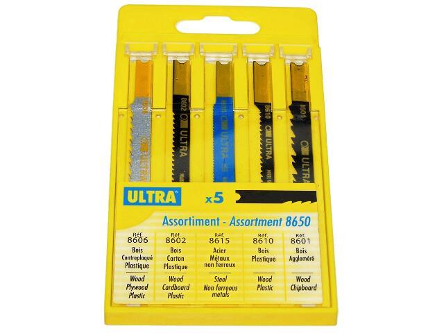 Zestaw brzeszczotów do wyrzynarek uchwyt B&D 5szt. U8650 Ultra