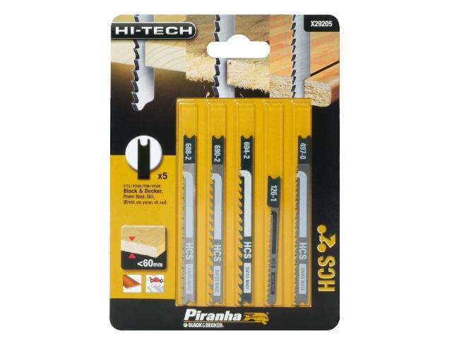 Zestaw brzeszczotów do wyrzynarek HI-TECH typ U 5szt. X29205 Piranha