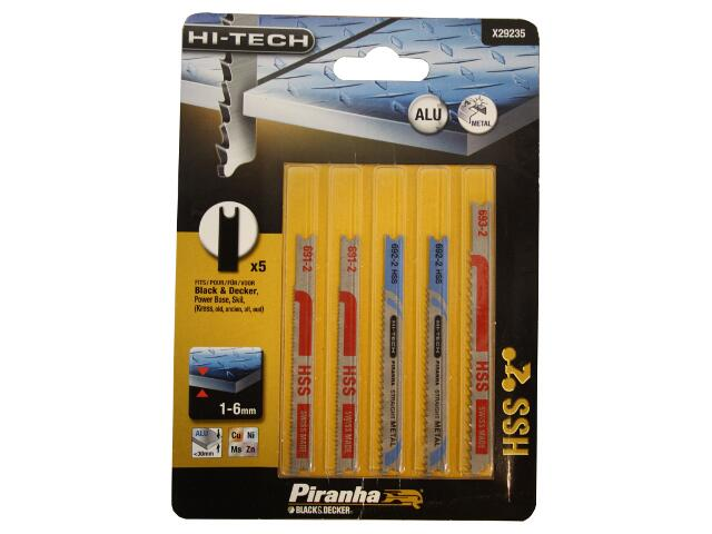 Zestaw brzeszczotów do wyrzynarek HI-TECH typ U 5szt. X29235 Piranha