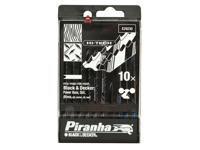 Zestaw brzeszczotów do wyrzynarek HI-TECH typ U 10szt. X29230 Piranha