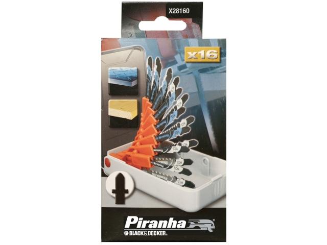 Zestaw brzeszczotów do wyrzynarek X28160 typ T 16cz. Piranha