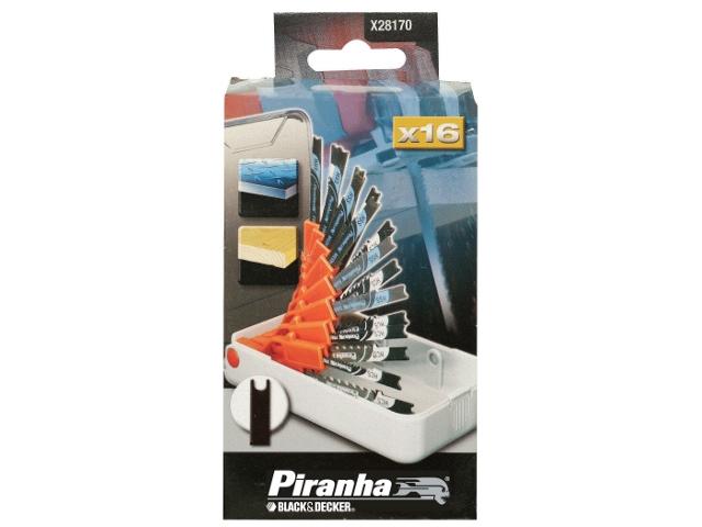 Zestaw brzeszczotów do wyrzynarek X28170 typ U 16cz. Piranha