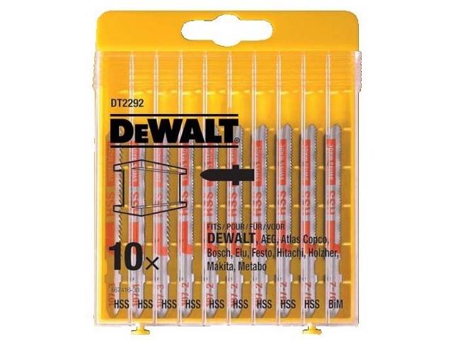 Zestaw brzeszczotów do wyrzynarek 10szt. do metalu DeWALT