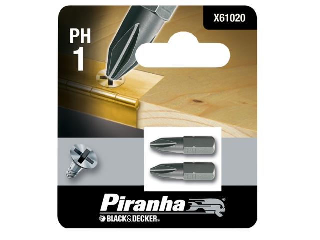 Końcówka wkrętakowa Ph1/25 2szt. Piranha