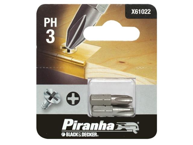 Końcówka wkrętakowa Ph3/25 2szt. Piranha