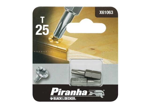 Końcówka wkrętakowa T25/25 2szt. Piranha