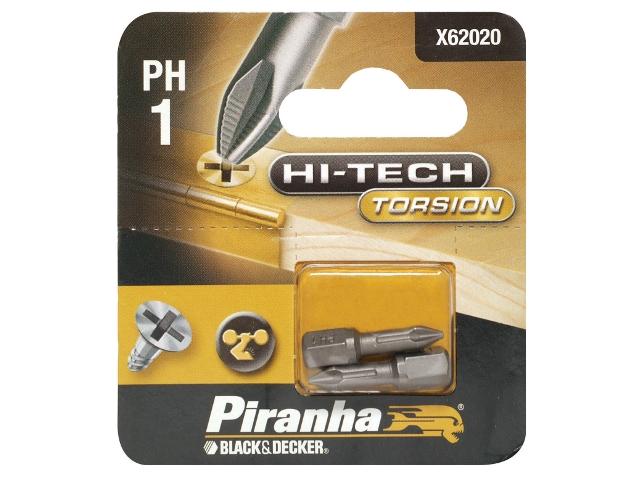 Końcówka wkrętakowa Ph1/25 2szt. HI-TECH TORSION Piranha