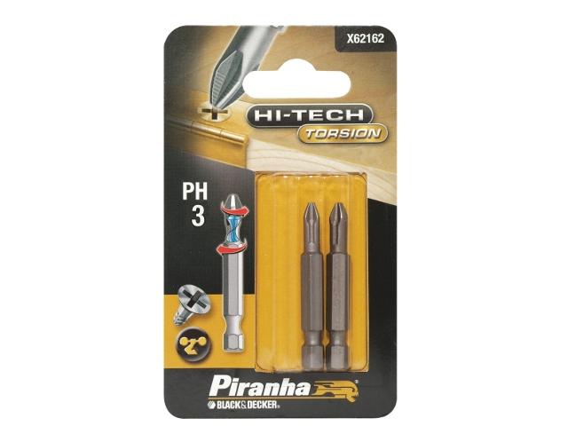 Końcówka wkrętakowa Ph3/50 2szt. HI-TECH TORSION X62162 Piranha