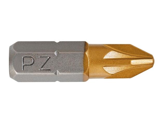 "Końcówka wkrętakowa PZ3 25mm 1/4"" 2szt. Graphite"