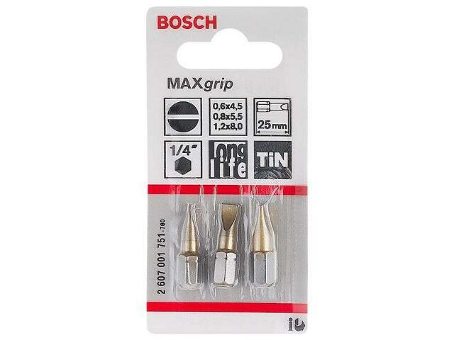 Zestaw bitów 3xpłaski MAXG SET 3cz. 2607001751 Bosch