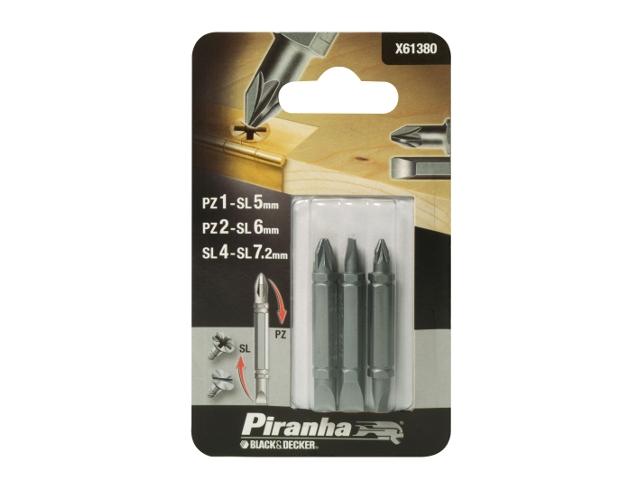Zestaw bitów 3szt. X61380 Piranha