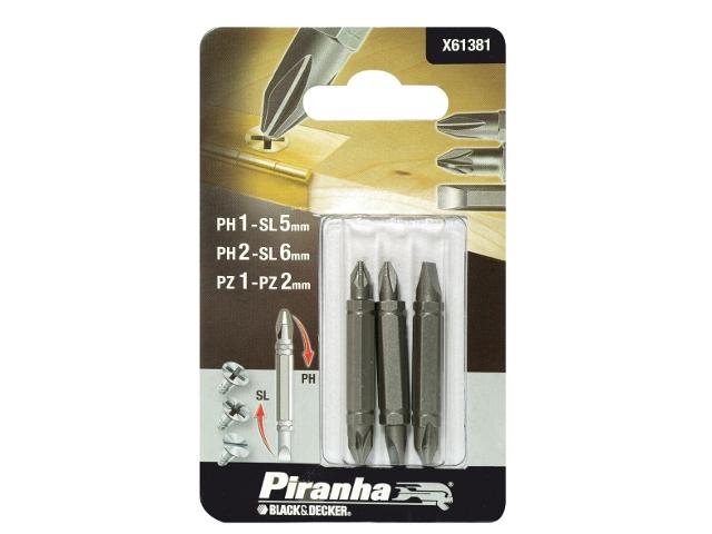 Zestaw bitów 3szt. X61381 Piranha