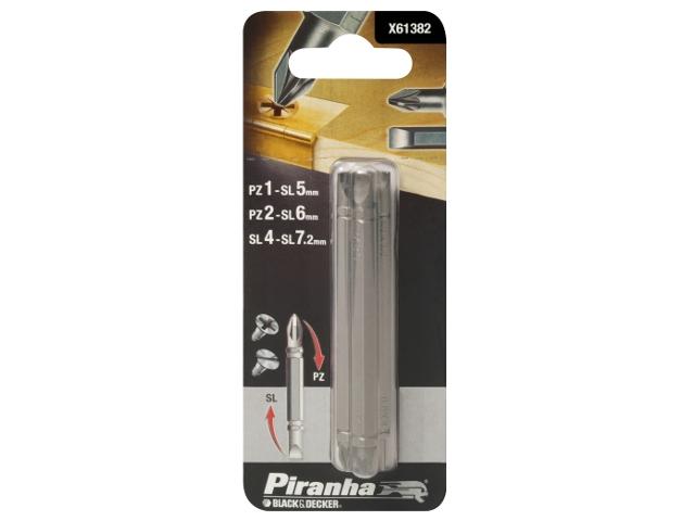 Zestaw bitów 3szt. X61382 Piranha
