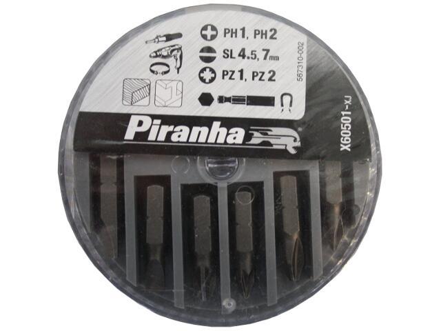 Zestaw bitów 7szt. X60501 Piranha