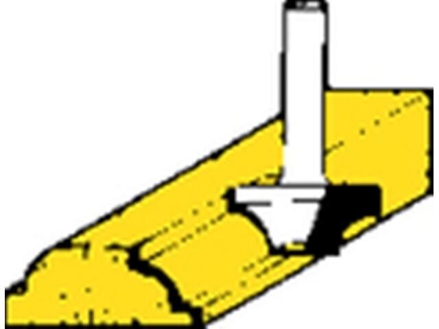 Frez do ćwierćwałków HSS 15,5x10x5 Metabo
