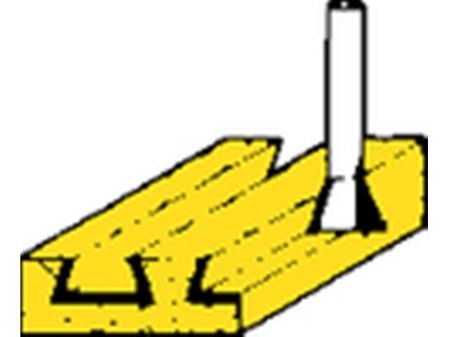 Frez do płetw/wczep. HSS 12,2x10 15° Metabo