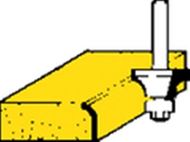 Frez do zaokrąglania HM 25,4x12,7x6,35mm Metabo