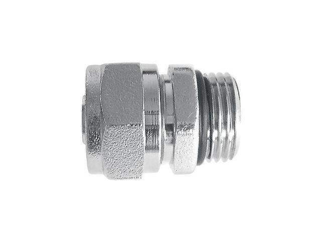 """Złączka zaciskowa 1/2"""" z oringiem do rur wielowarstwowych 16x2mm nikiel Weberman"""