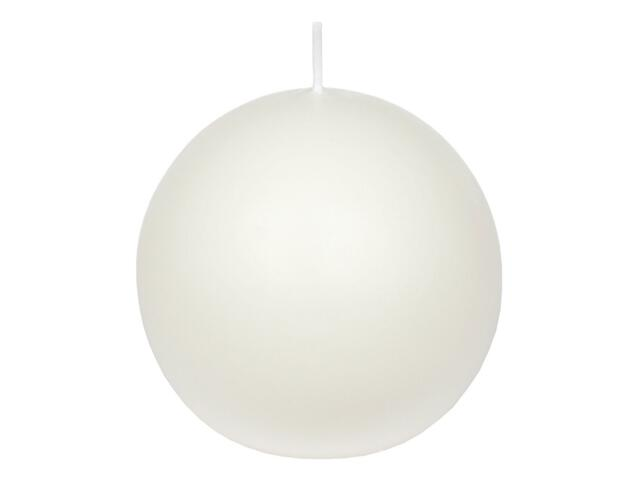 Świeca kula 95mm kolor biały Muller