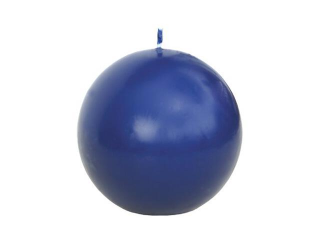 Świeca kula 75mm kolor indigo Muller