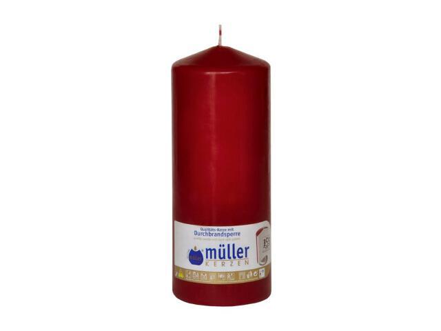 Świeca walec 200x80mm kolor wina Muller