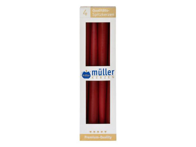 Świeca świecznikowa 295mm kpl 4szt kolor wina Muller