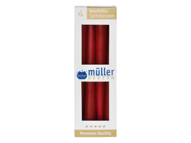 Świeca świecznikowa 245mm kpl 4szt kolor wina Muller