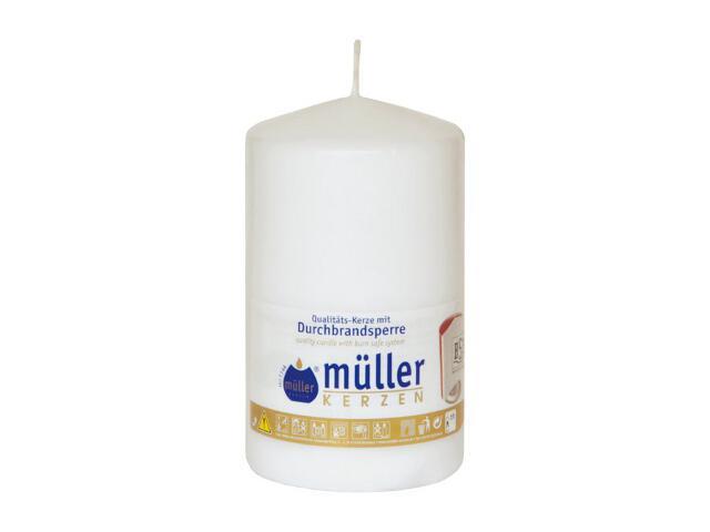 Świeca walec 130x75mm kolor biały Muller