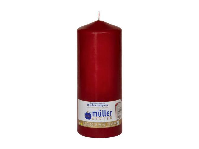 Świeca walec 180x70mm kolor wina Muller