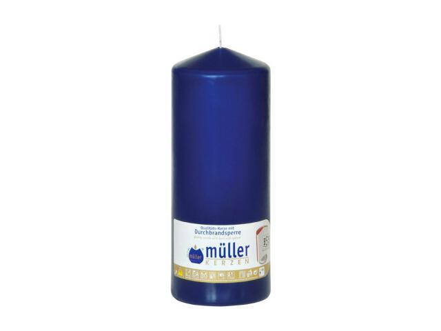 Świeca walec 180x70mm kolor indigo Muller