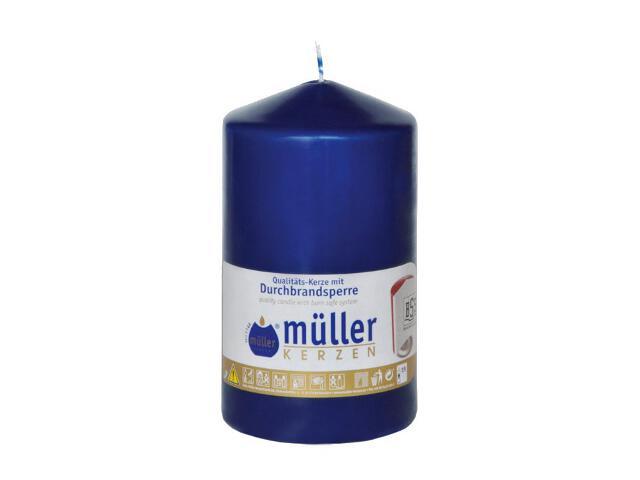 Świeca walec 130x75mm kolor indigo Muller