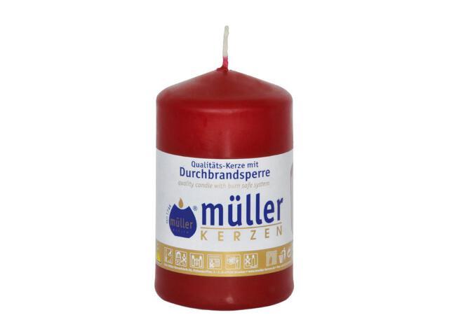 Świeca walec 90x55mm kolor wina Muller