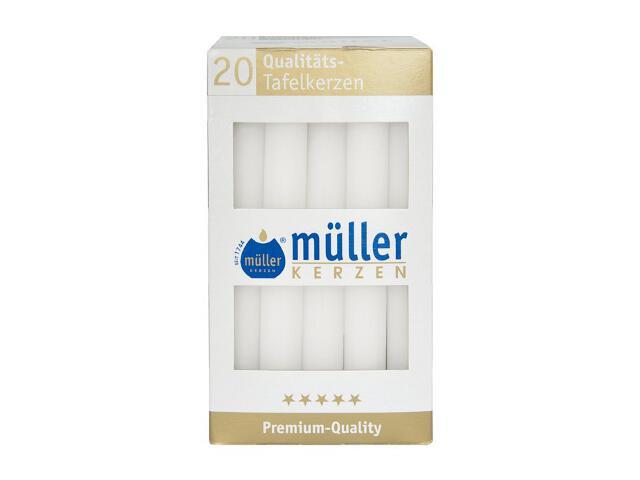 Świeca świecznikowa kpl 20szt kolor biały Muller