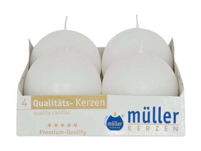 Świeca kula 60mm kpl 4szt kolor biały Muller
