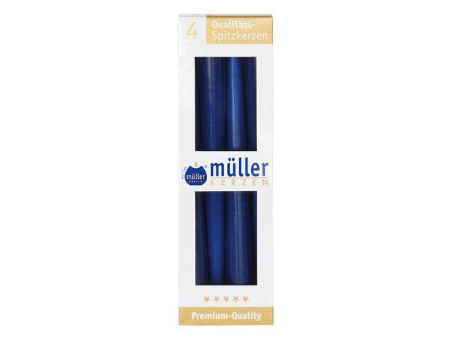Świeca świecznikowa 245mm kpl 4szt kolor indigo Muller