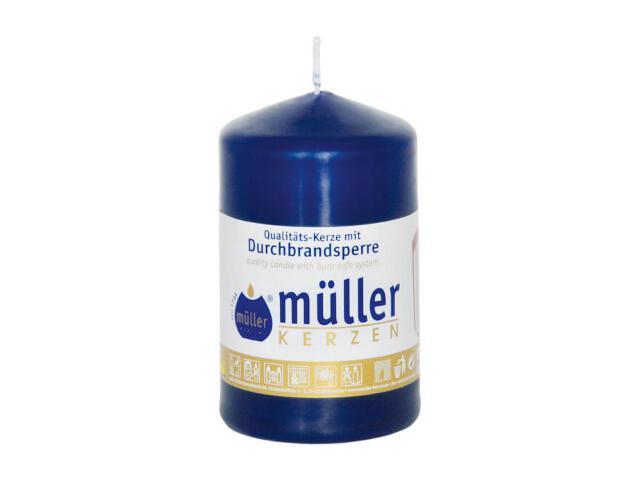 Świeca walec 90x55mm kolor indigo Muller