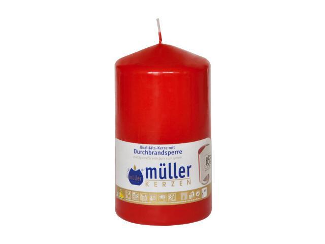 Świeca walec 130x75mm kolor karminowy Muller